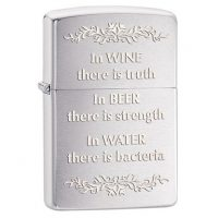 "Zippo upaljac ""In wine there is truth"""