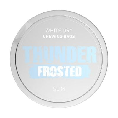 Thunder frosted slim white dry duvan za zvakanje