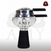 Amy Deluxe staklena kristalna glava za duvan sa poklopcem